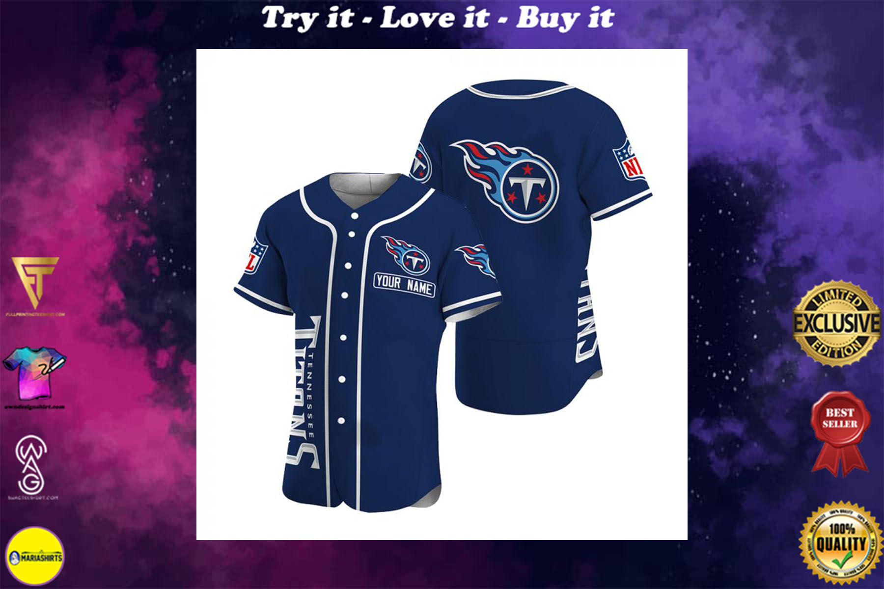 [special edition] customize name jersey tennessee titans shirt - maria