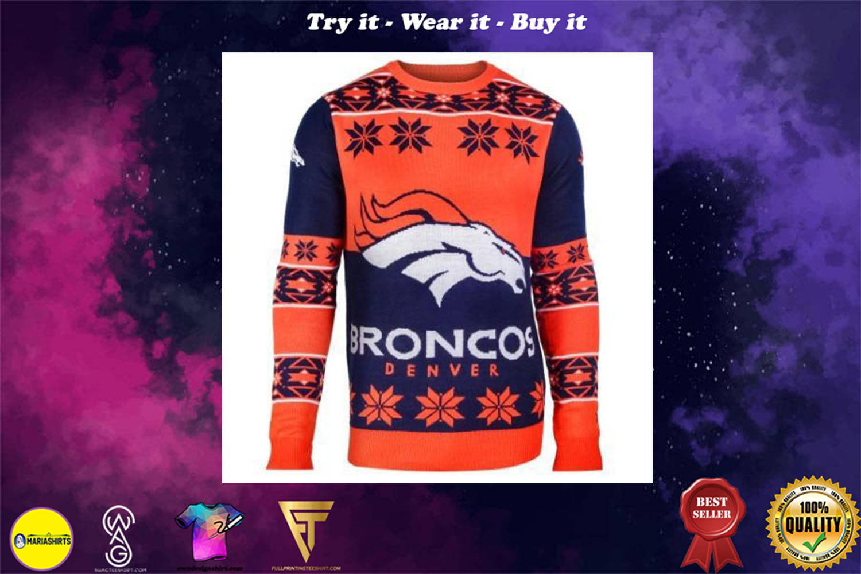 [special edition] denver broncos national football league ugly christmas sweater - maria
