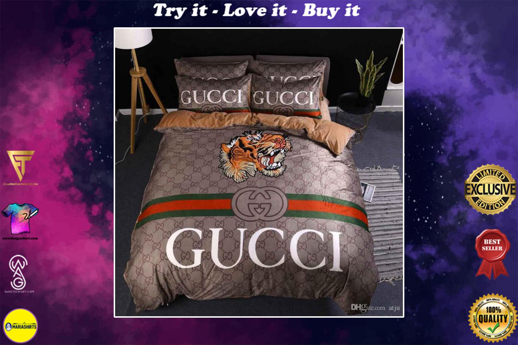 [special edition] gucci tiger bedding set - maria