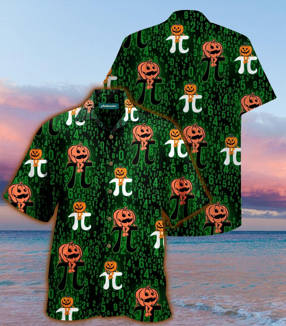 [special edition] halloween pumpkin pi hawaiian shirt - Maria