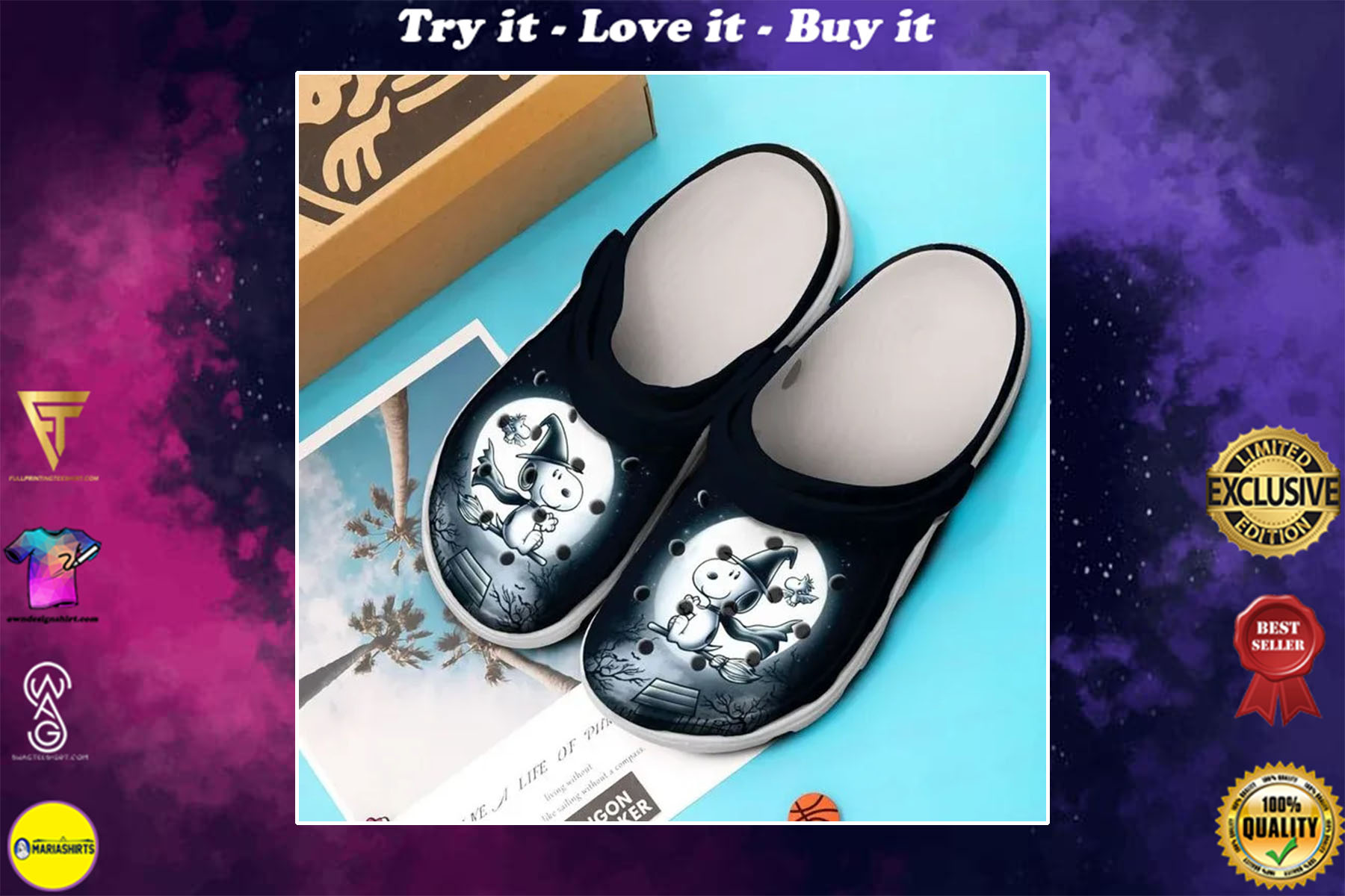 [special edition] halloween snoopy and charlie brown crocs shoes - maria