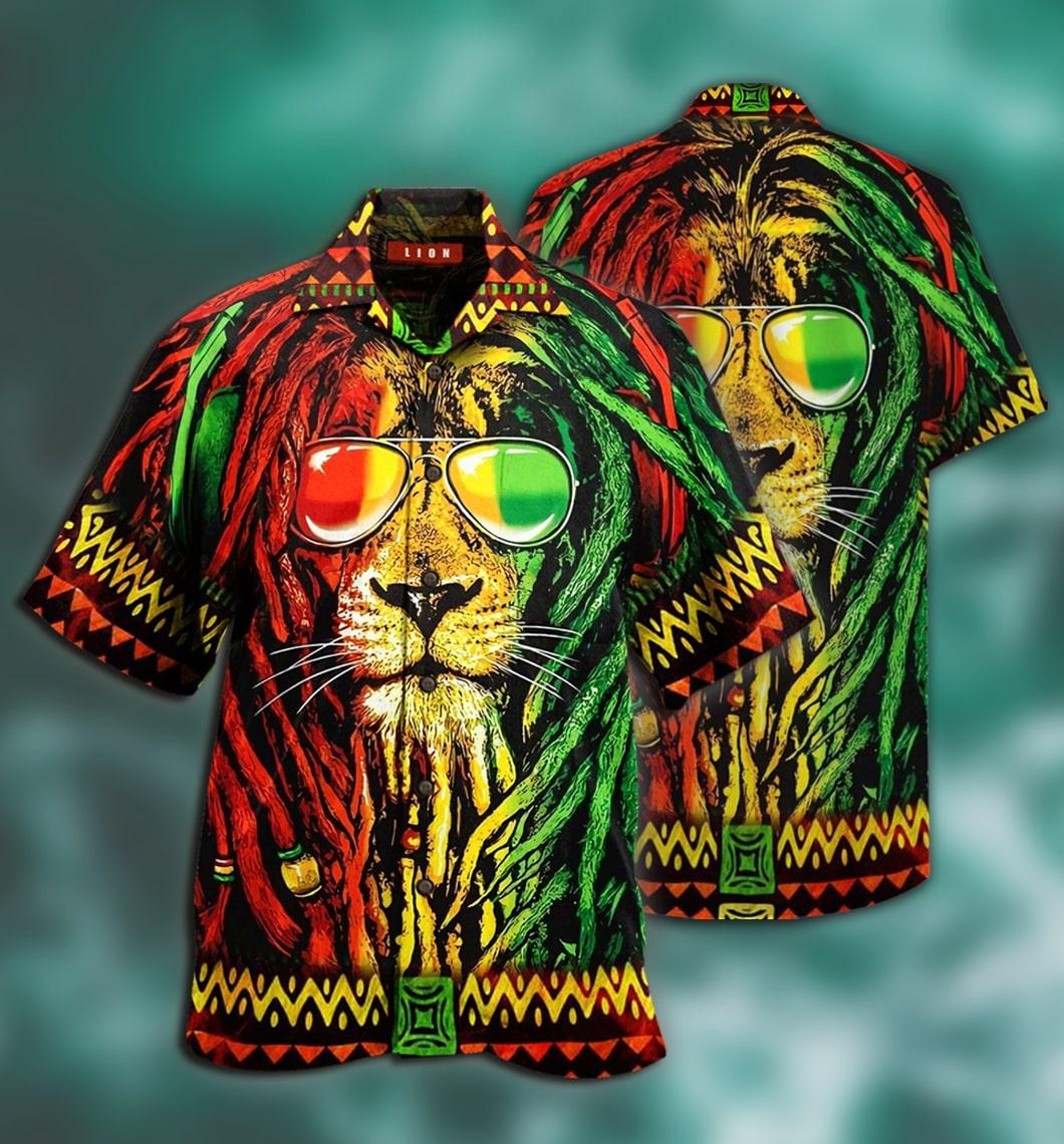 [special edition] jamaica lion hawaiian shirt - Maria