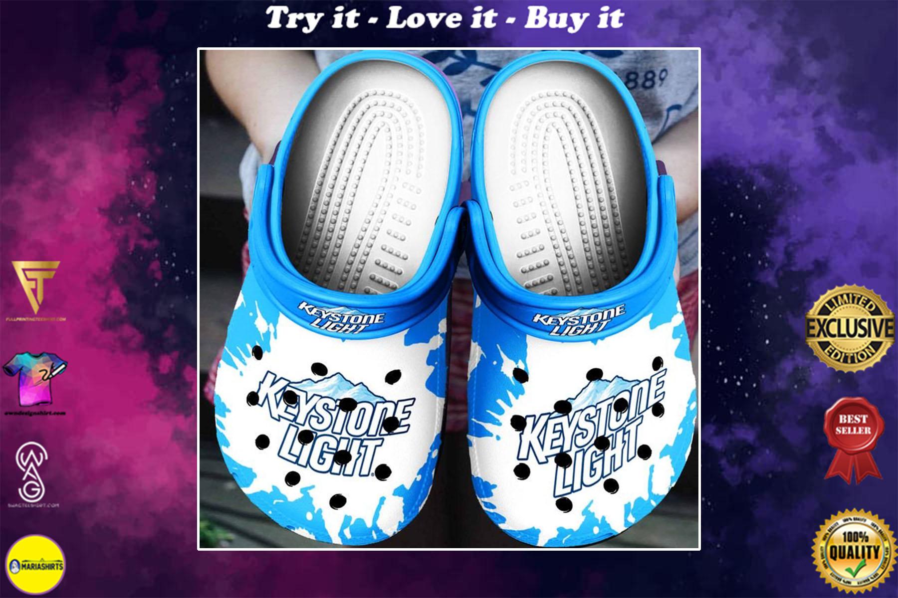 [special edition] keystone light beer crocs shoes - maria