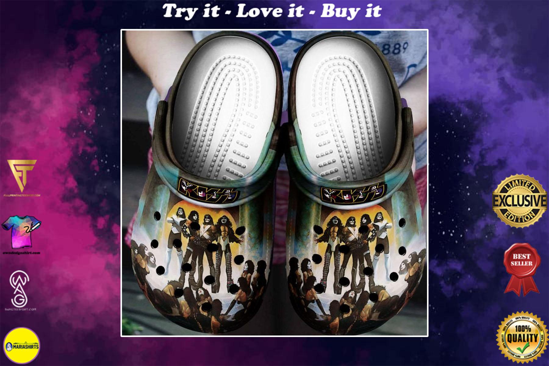 [special edition] kiss rock band crocs shoes - maria