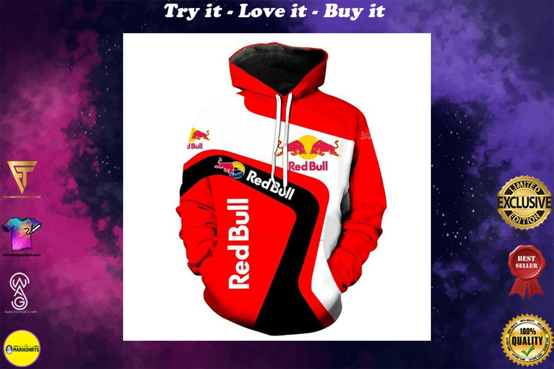 [special edition] ktm redbull team motorcycle sport riding racing full printing shirt - maria