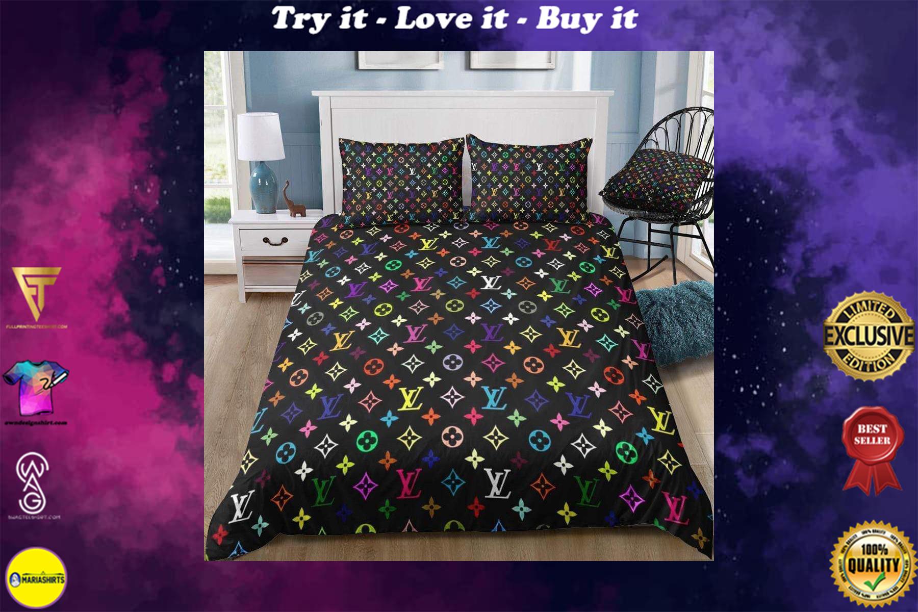 [special edition] louis vuitton monogram multi-color bedding set - maria