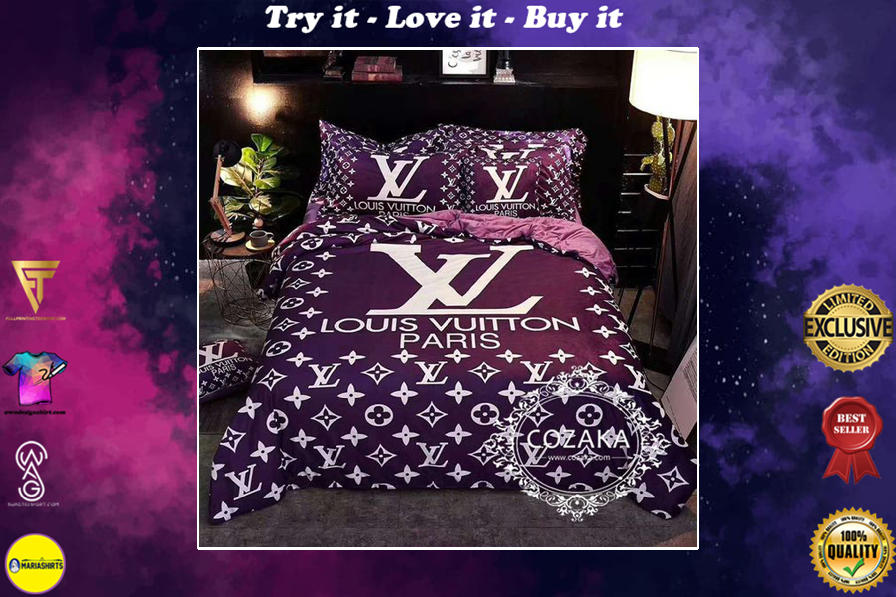 [special edition] louis vuitton paris monogram bedding set - maria