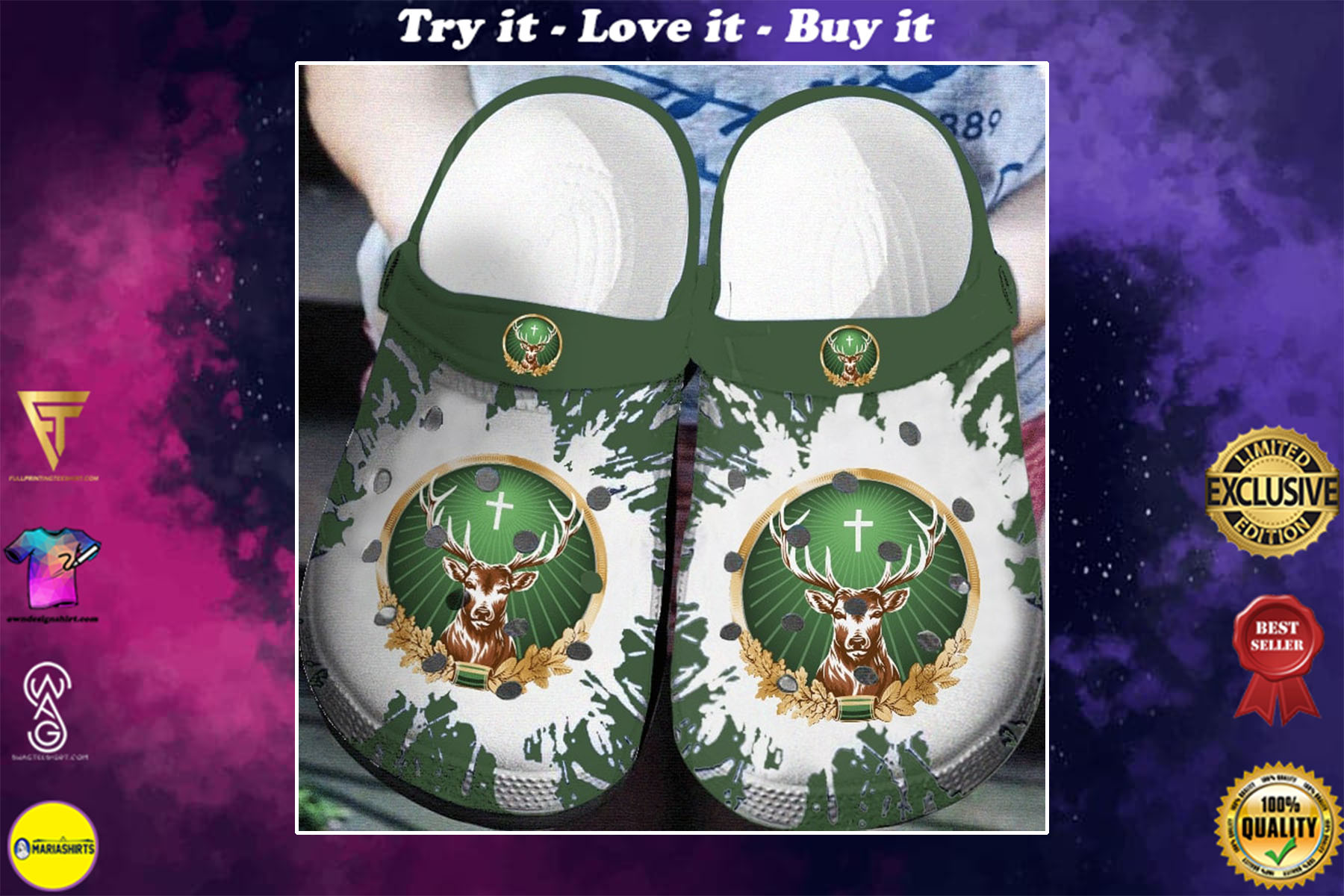 [special edition] master of the hunt jagermeister crocs shoes - maria