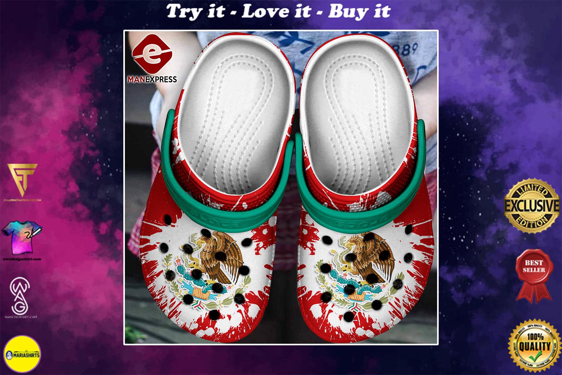 [special edition] mexico flag crocs shoes - maria