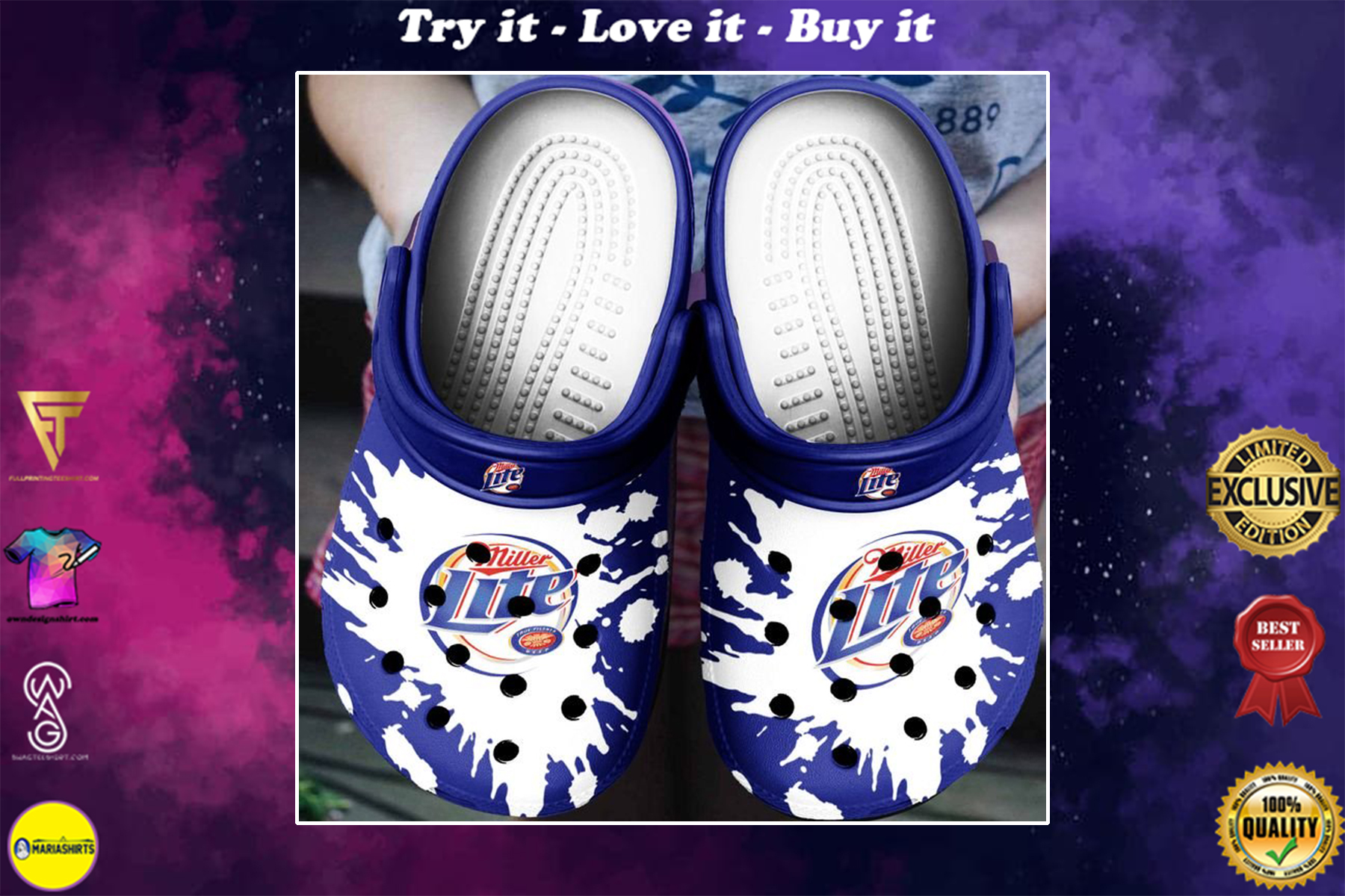 [special edition] miller lite beer crocs shoes - maria