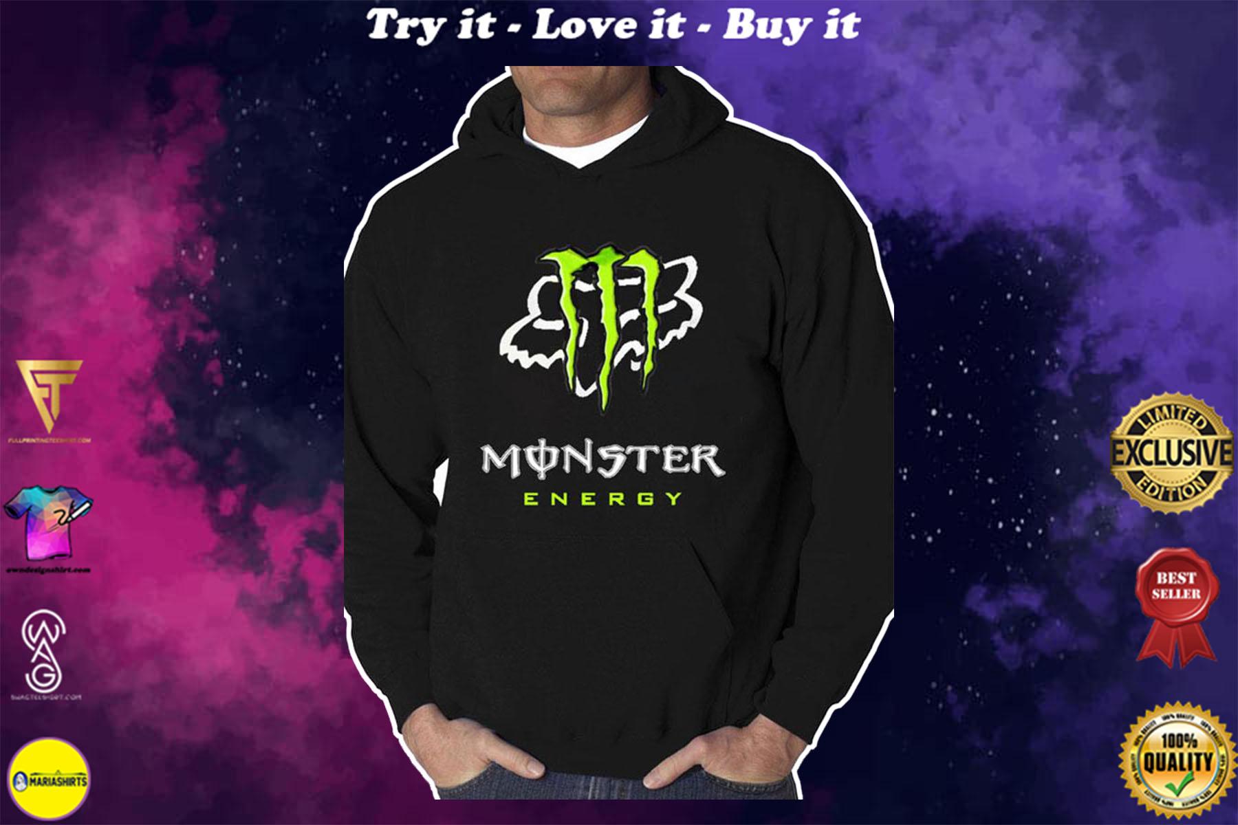 [special edition] monster energy fox racing team motocross full printing shirt - maria