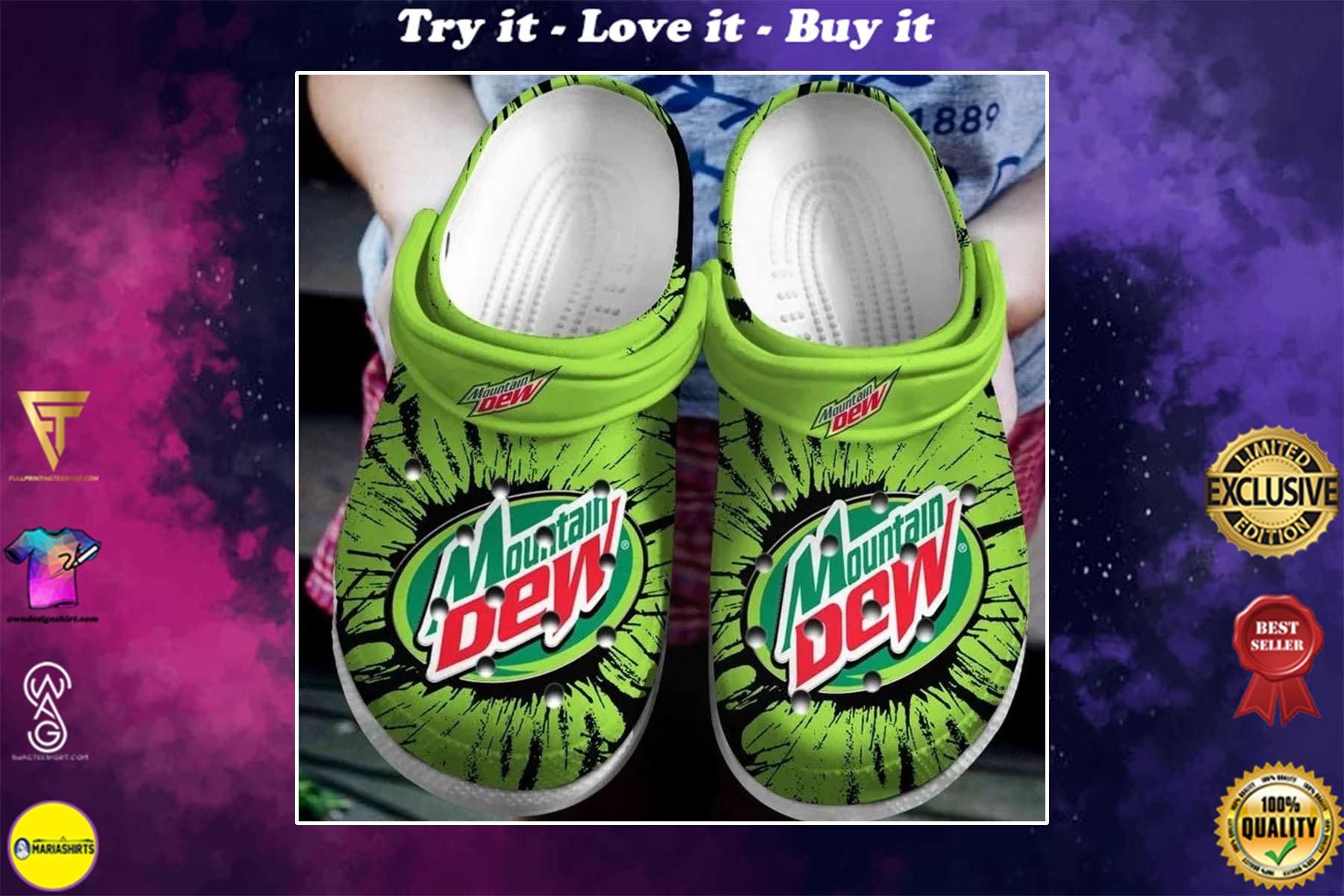 [special edition] pepsico mountain dew crocs shoes - maria