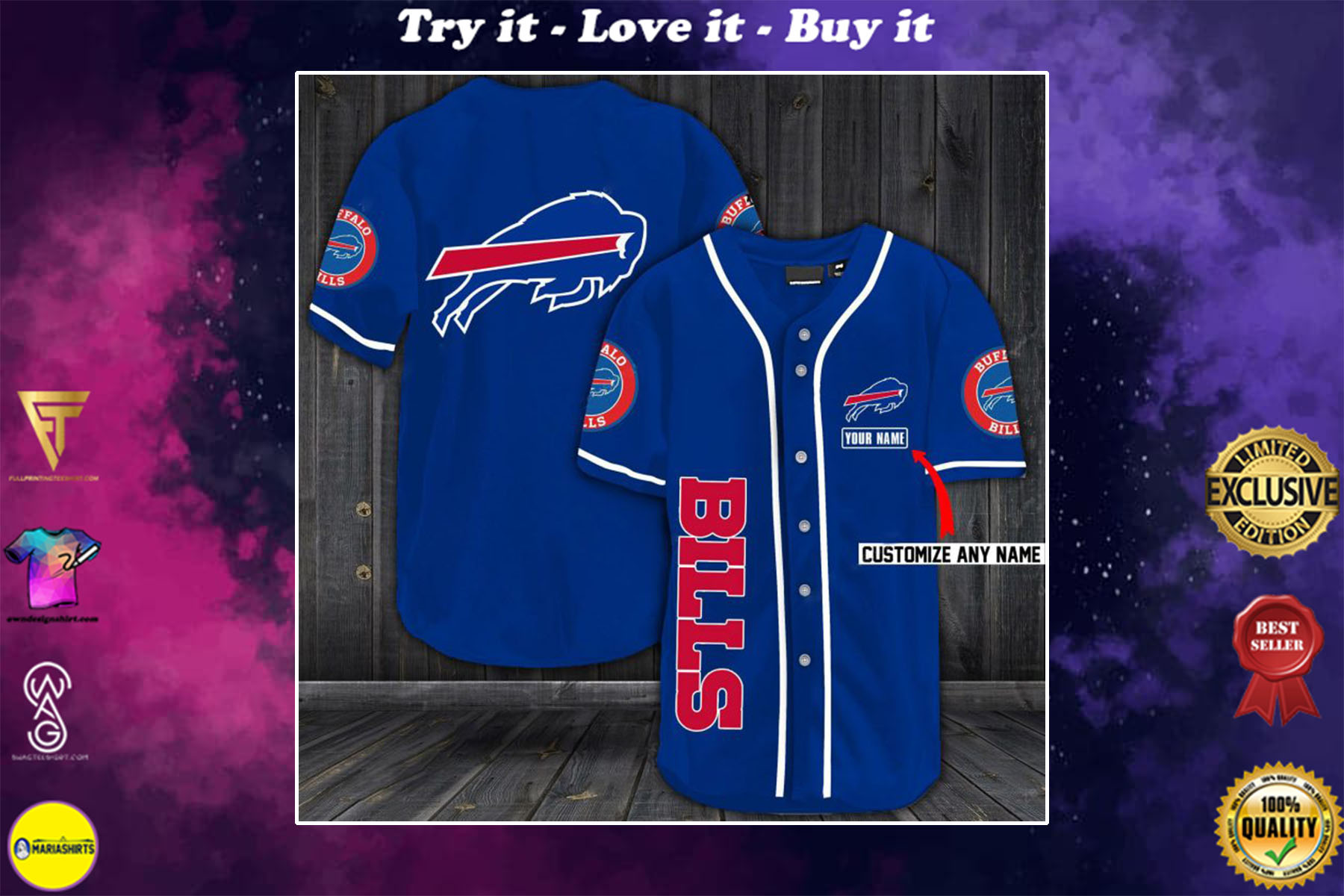 [special edition] personalized name jersey buffalo bills shirt - maria