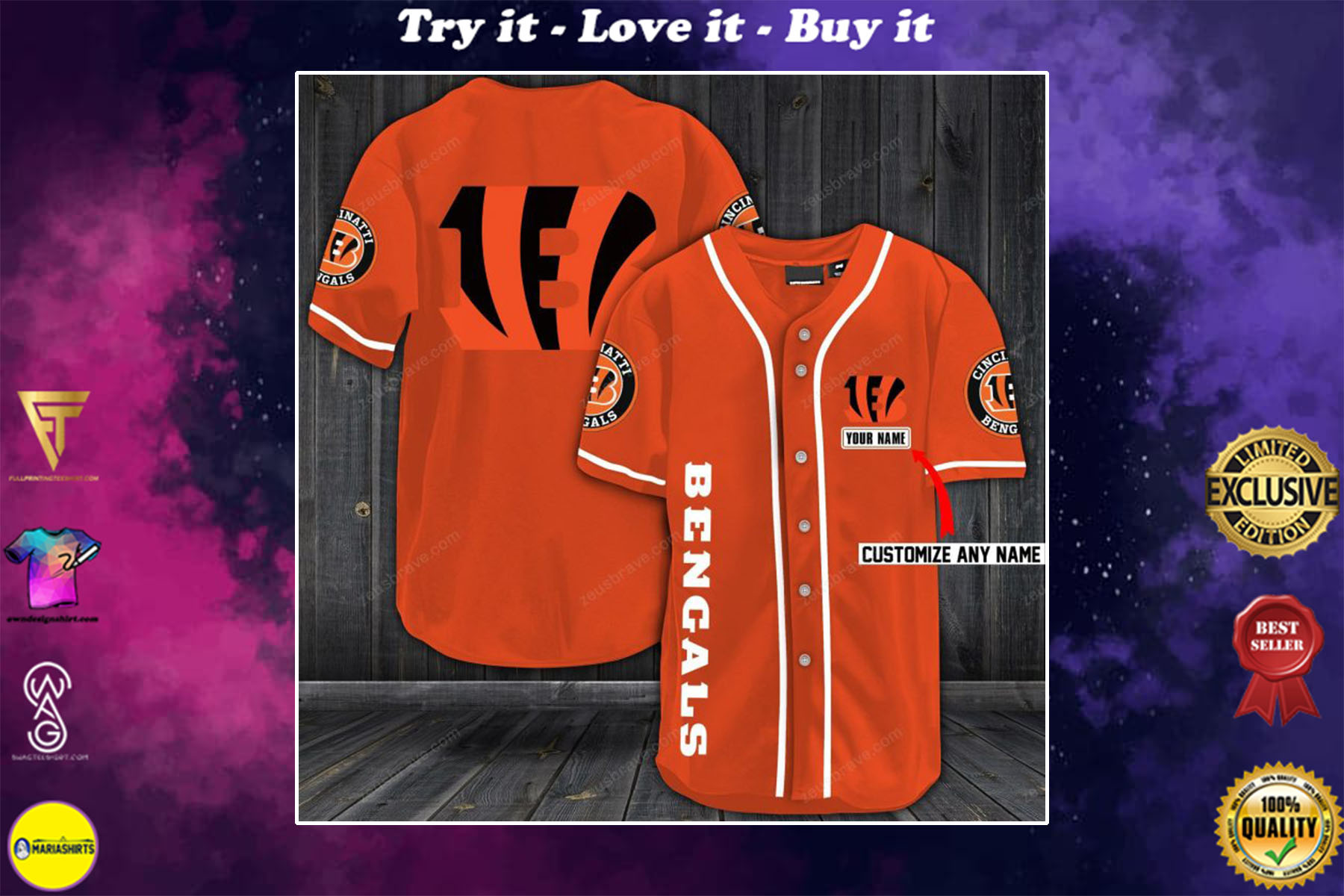 [special edition] personalized name jersey cincinnati bengals shirt - maria