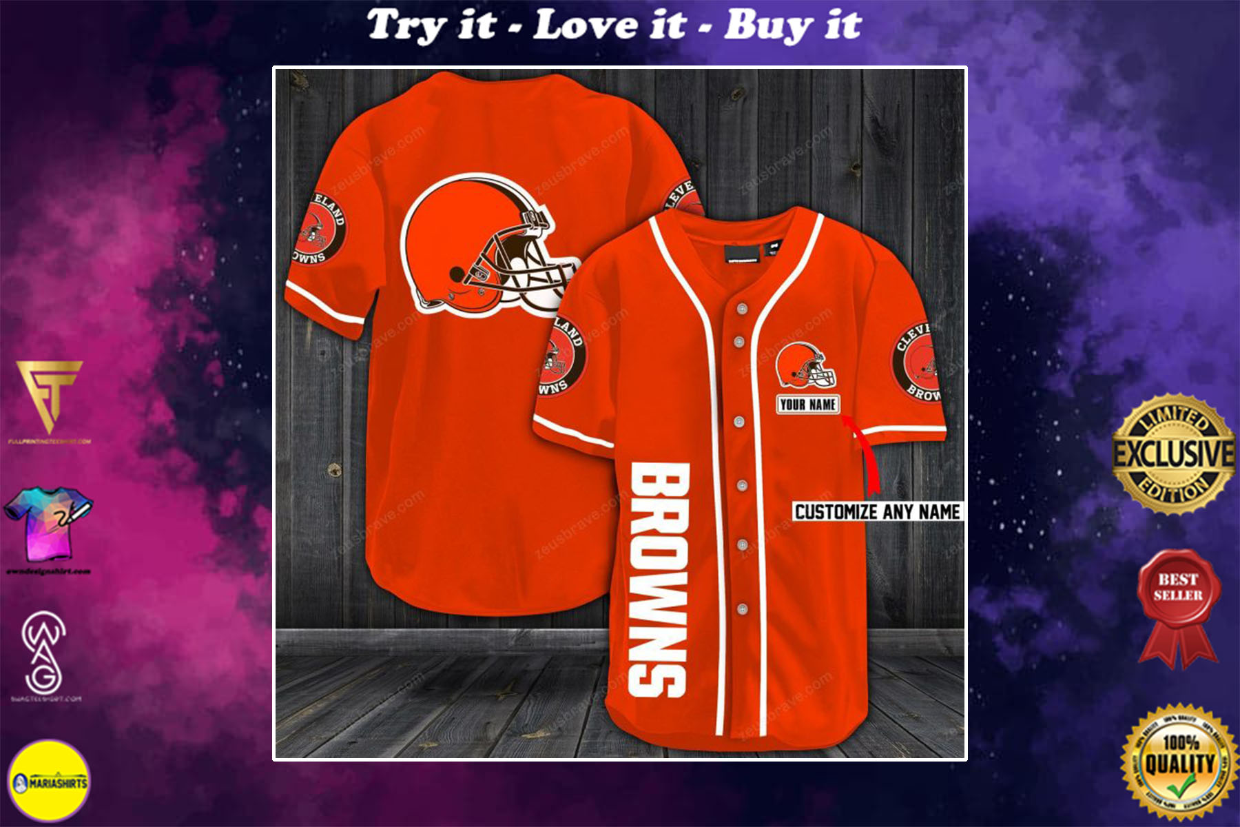 [special edition] personalized name jersey cleveland browns shirt - maria