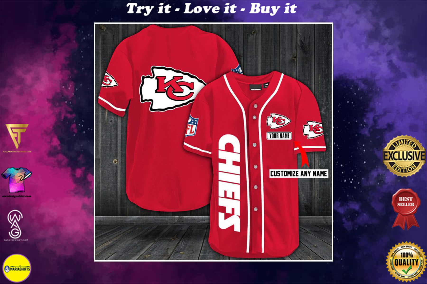 [special edition] personalized name jersey kansas city chiefs shirt - maria