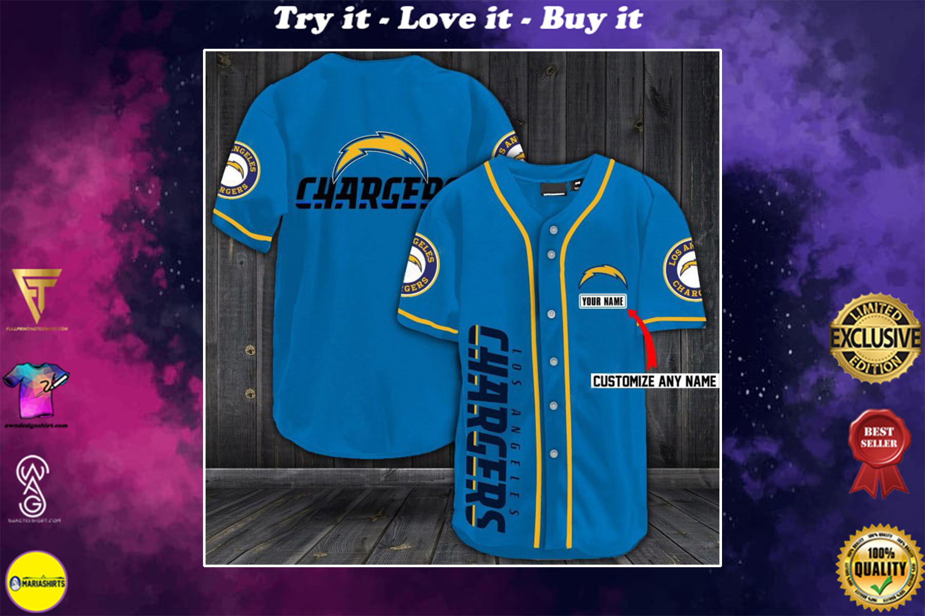 [special edition] personalized name jersey los angeles chargers shirt - maria