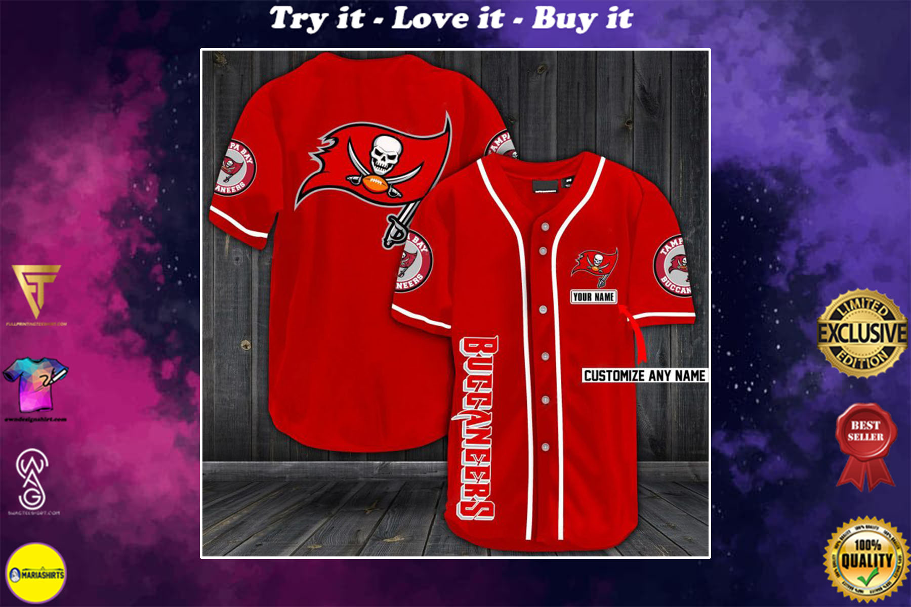 [special edition] personalized name jersey tampa bay buccaneers shirt - maria