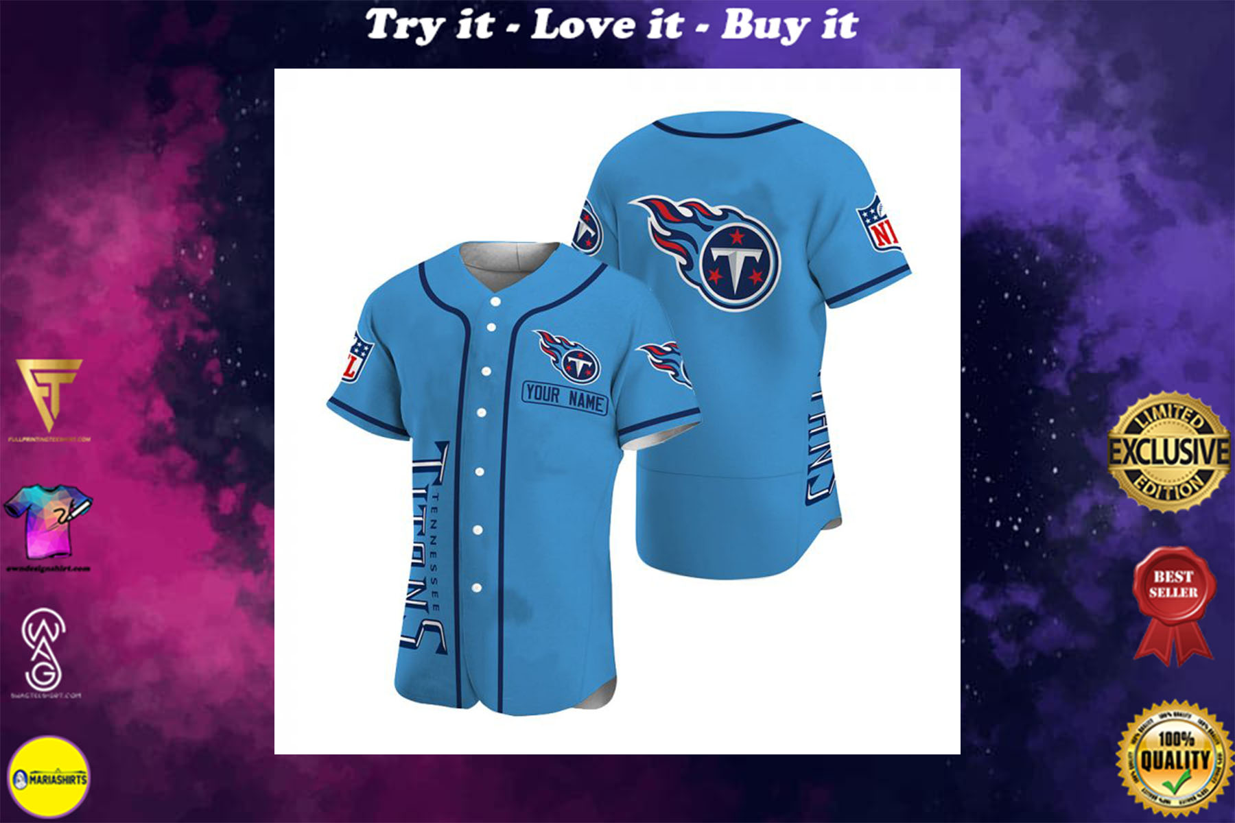 [special edition] personalized name jersey tennessee titans shirt - maria