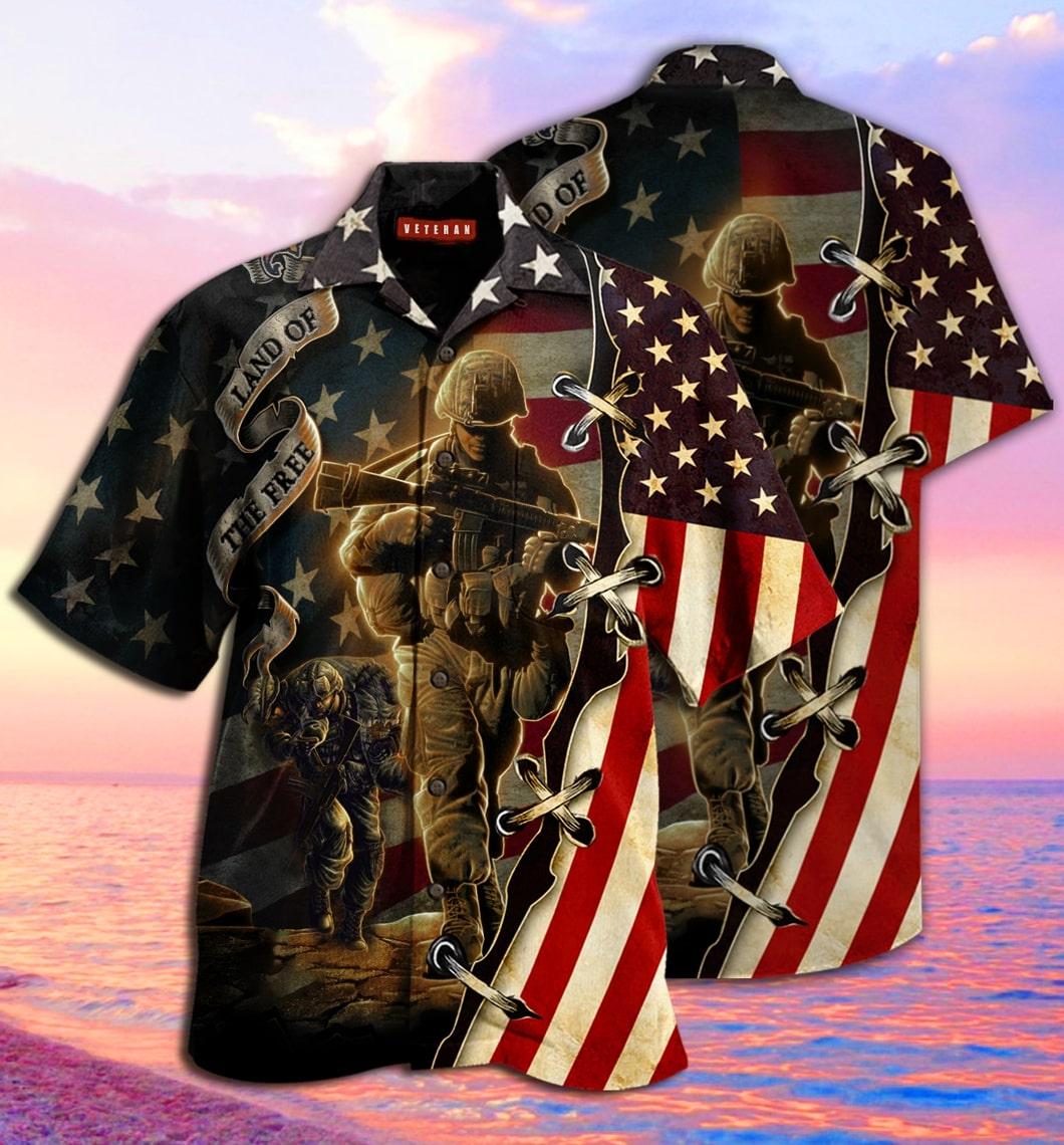 [special edition] proud memories veteran land of the free hawaiian shirt - Maria