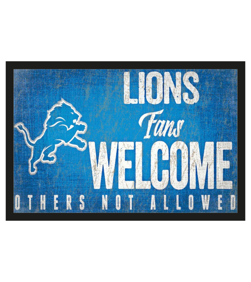 Detroit Lions fans welcome others not allowed doormat a