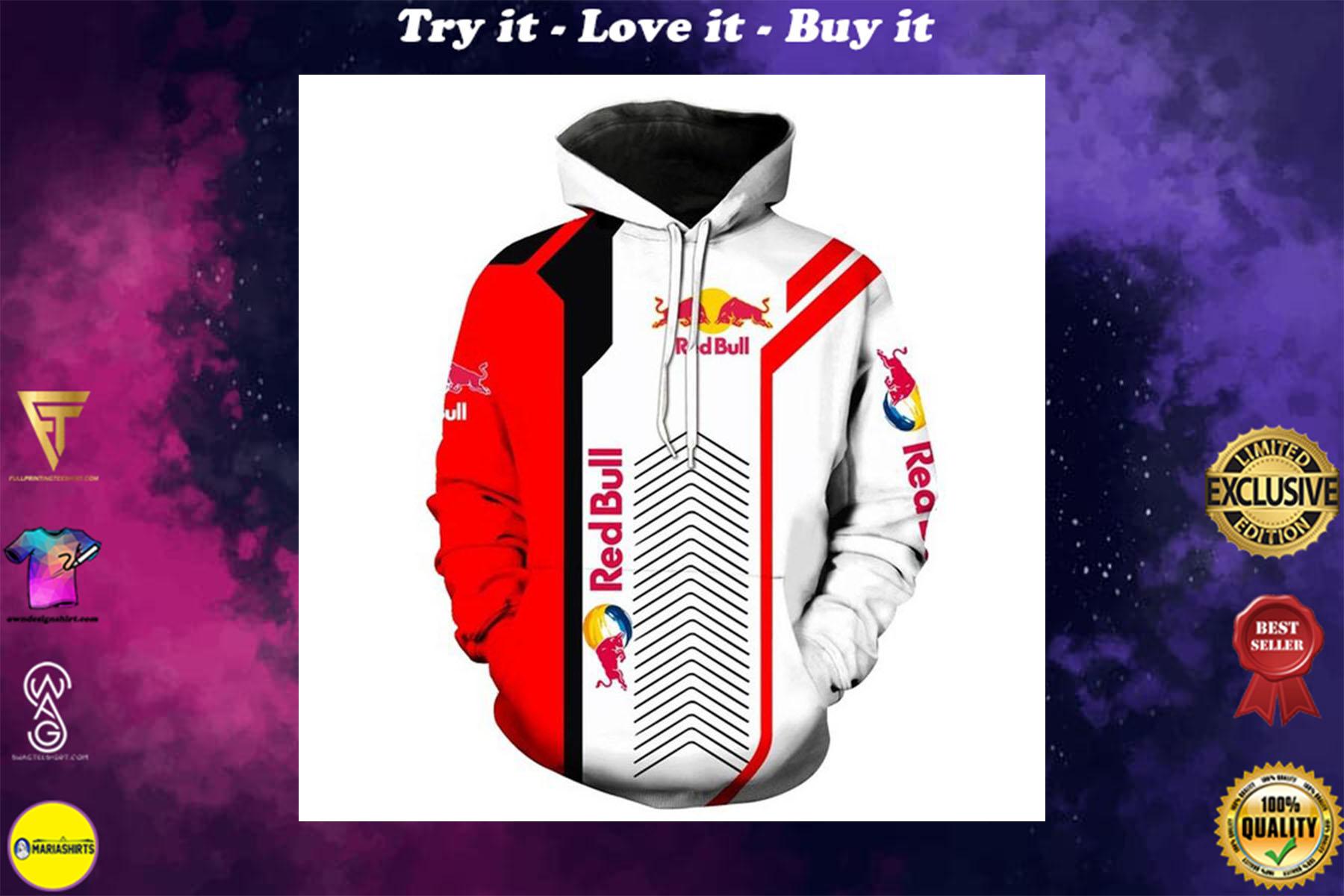 [special edition] red bull sports car motorcycles full printing shirt - maria