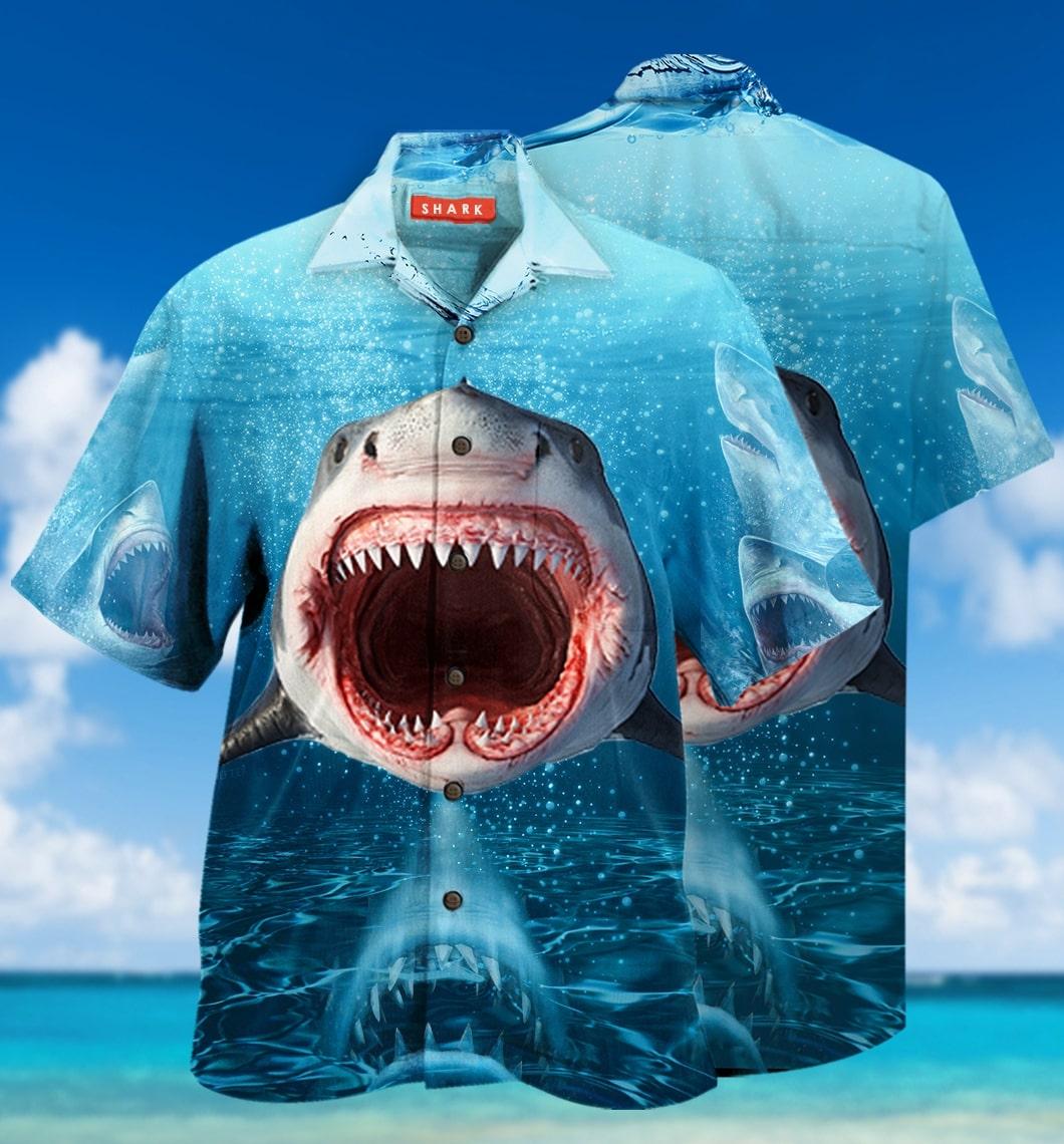 [special edition] show your teeth shark hawaiian shirt - Maria