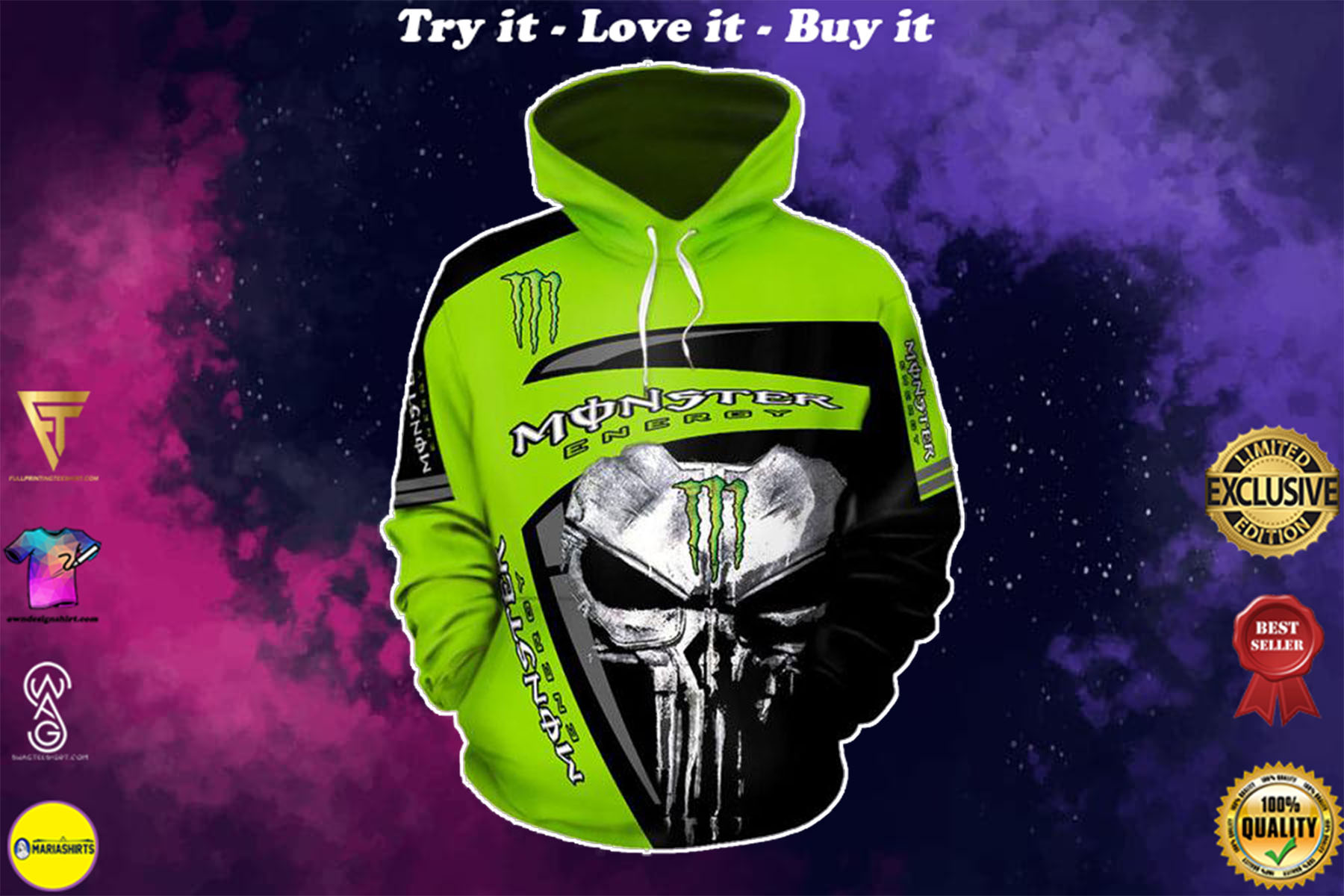 [special edition] skull fox racing fox is the leader in motocross full printing shirt - maria