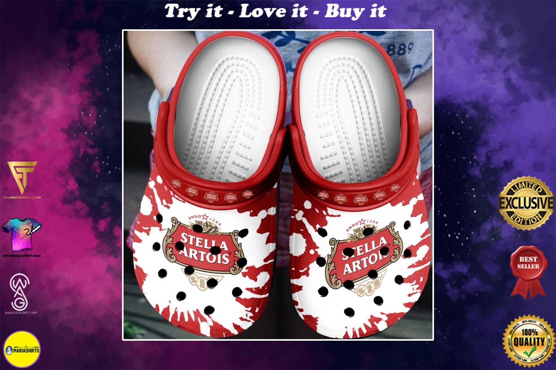 [special edition] stella artois beer crocs shoes - maria