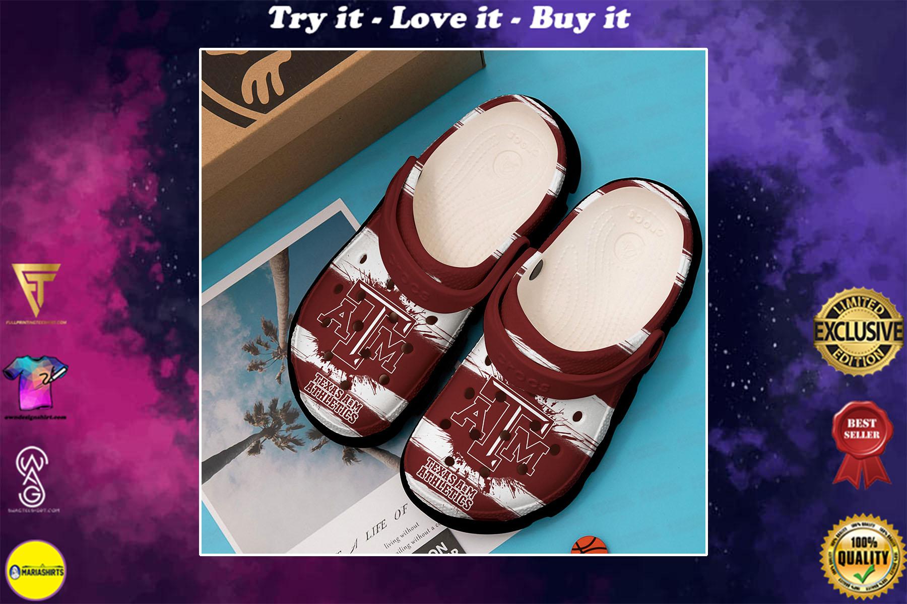 [special edition] texas am athletics football crocs shoes - maria