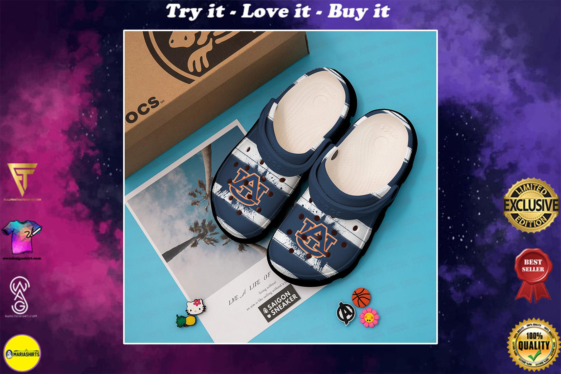 [special edition] the auburn tigers football crocs shoes - maria