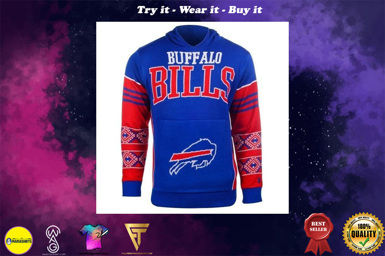[special edition] the buffalo bills nfl full over print shirt - maria