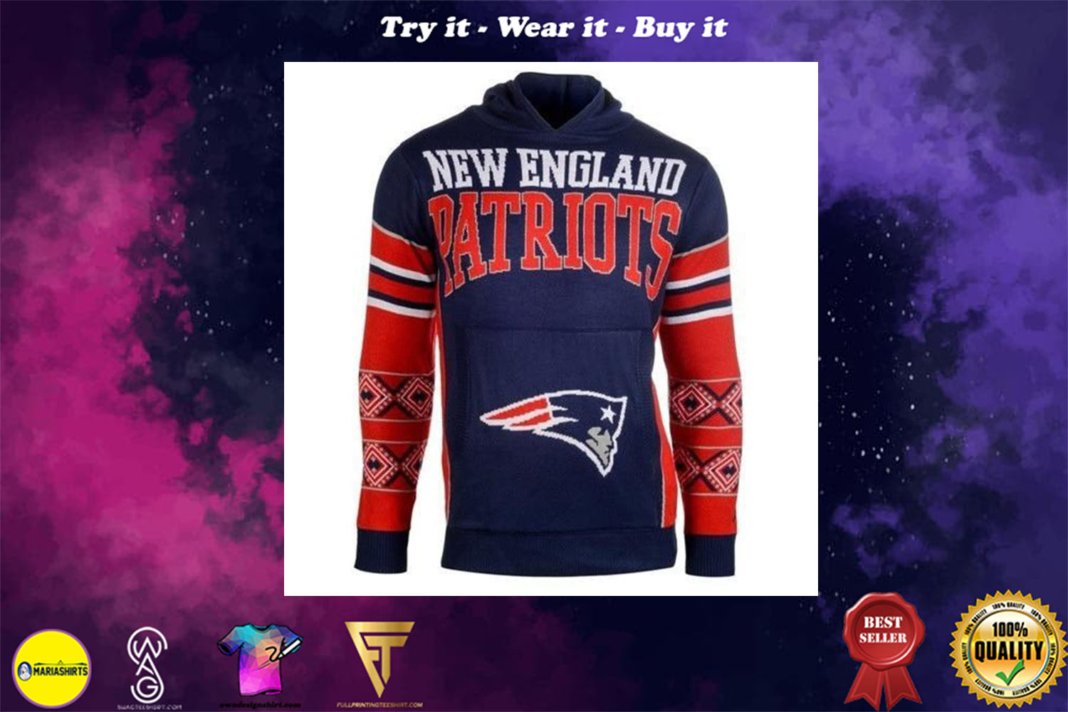 [special edition] the new england patriots nfl full over print shirt - maria