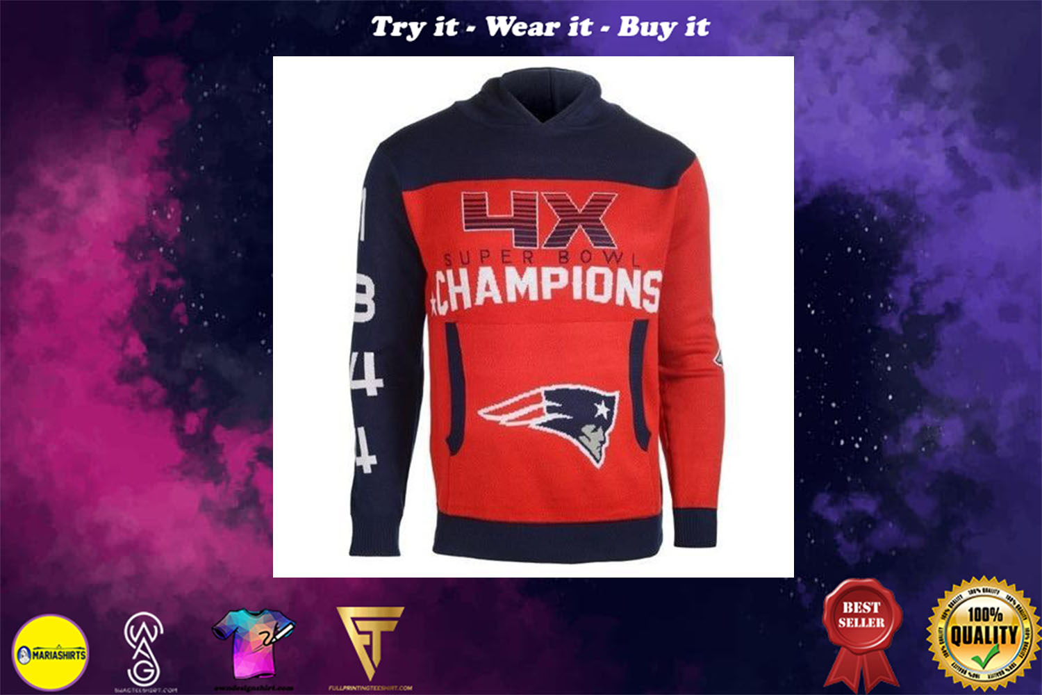 [special edition] the new england patriots super bowl champions full over print shirt - maria