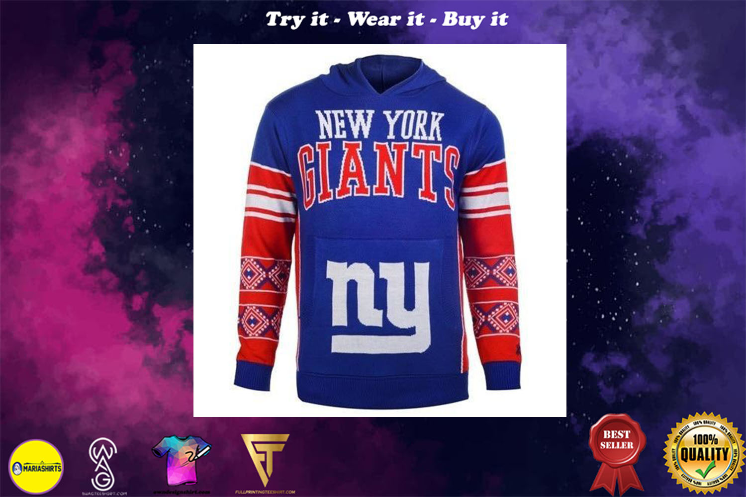 [special edition] the new york giants full over print shirt - maria