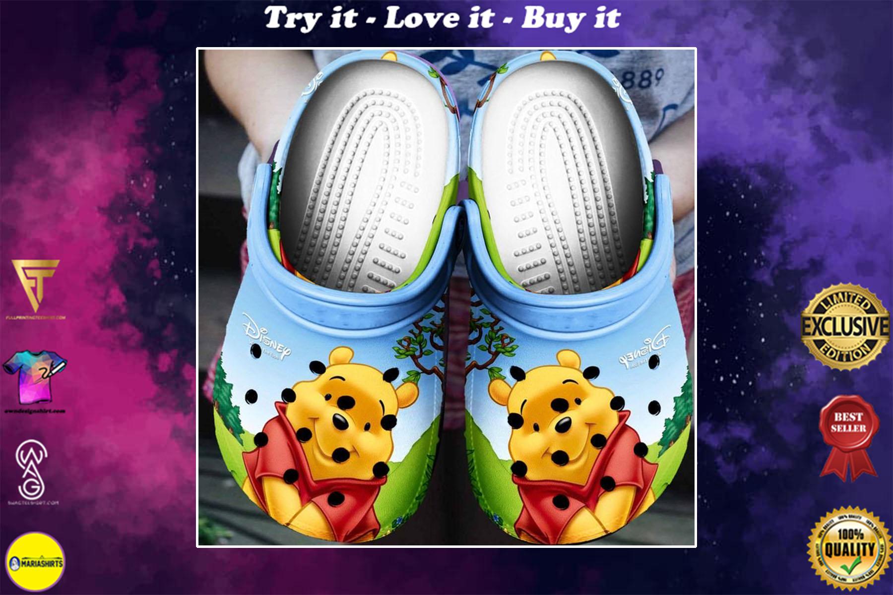 [special edition] the pooh cartoon crocs shoes - maria