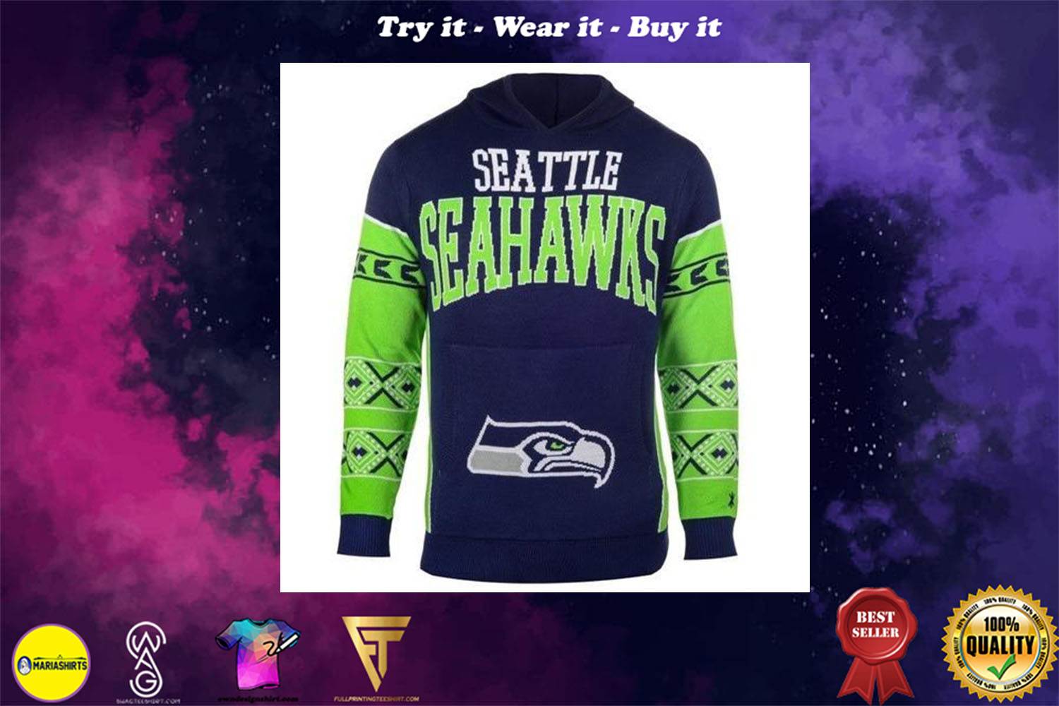 [special edition] the seattle seahawks full over print shirt - maria