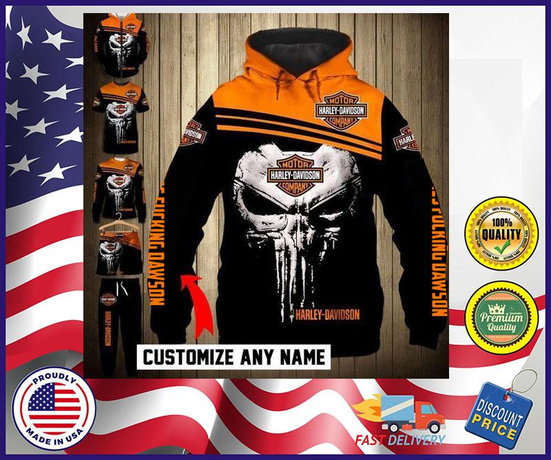 Punisher skull Jack Daniel 3d full print hoodie