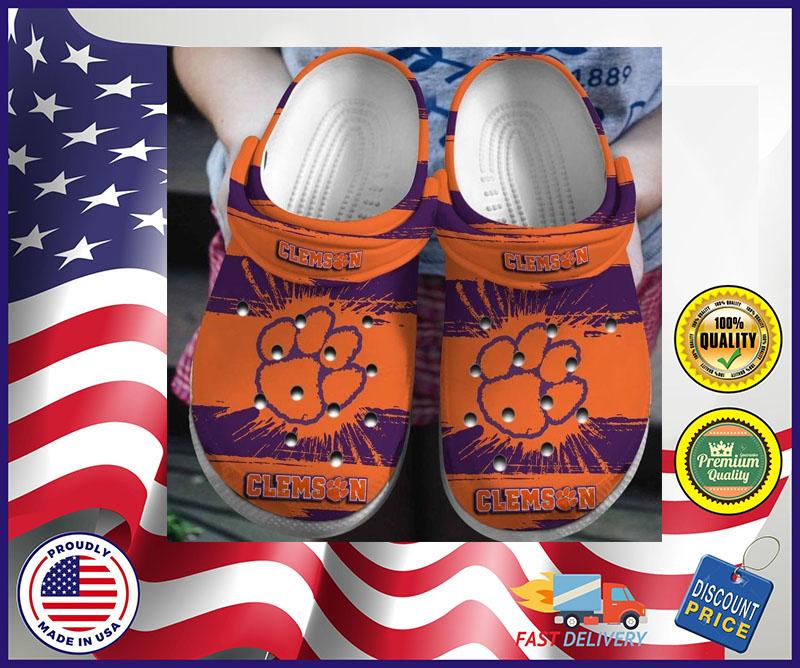 Clemson Tigers crocband croc shoes