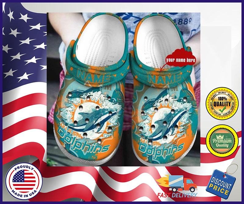 Miami dolphins crocband croc shoes