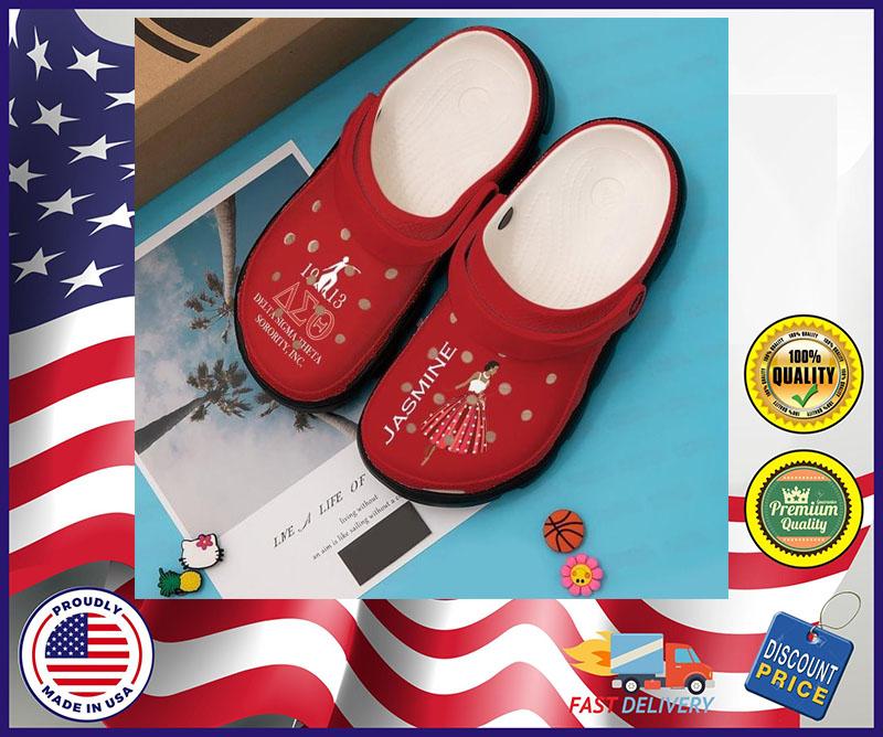 Delta sigma theta sorority custom personalized name crocs shoe crocband
