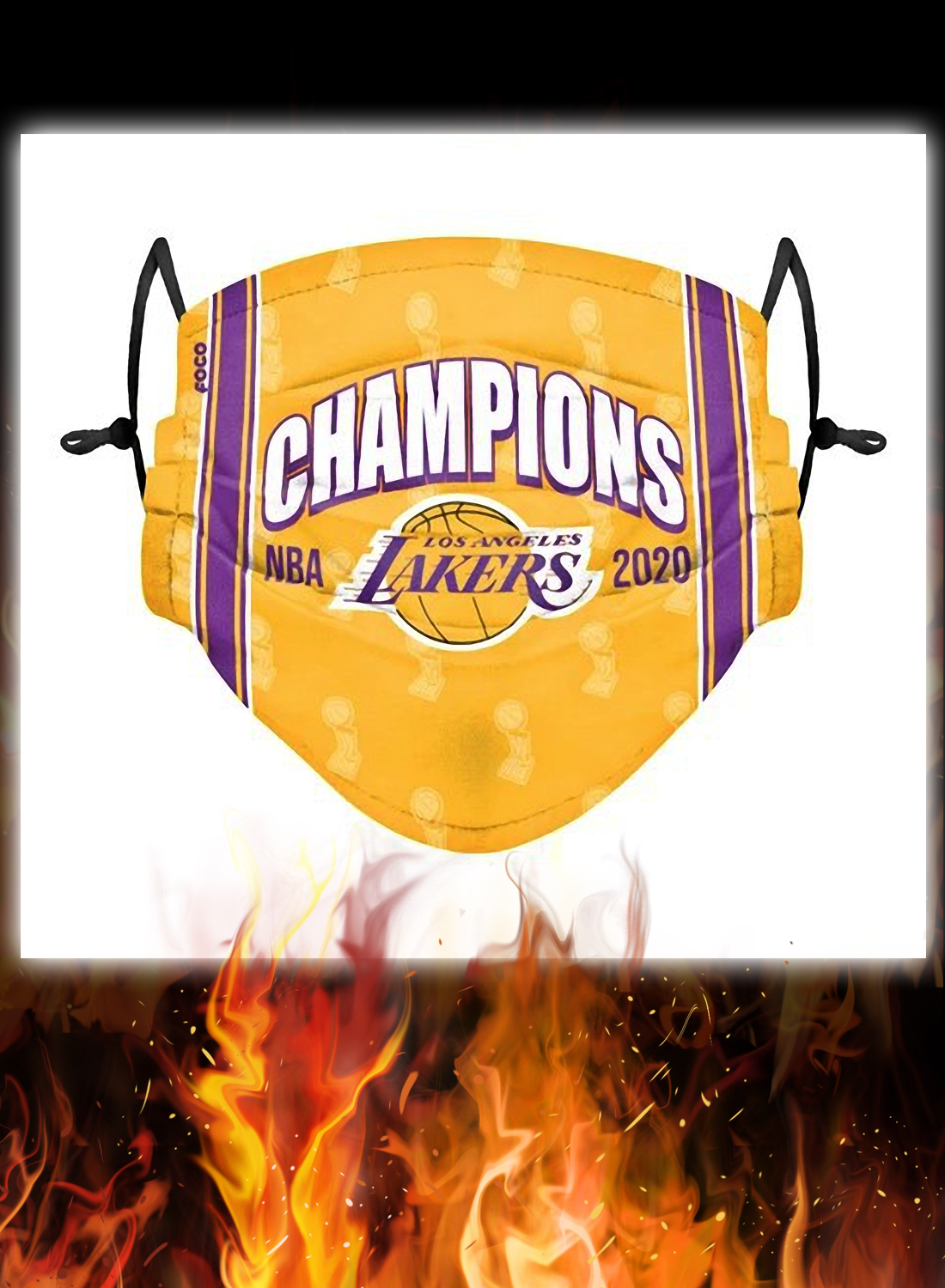 2020 NBA champions los angeles lakers face mask