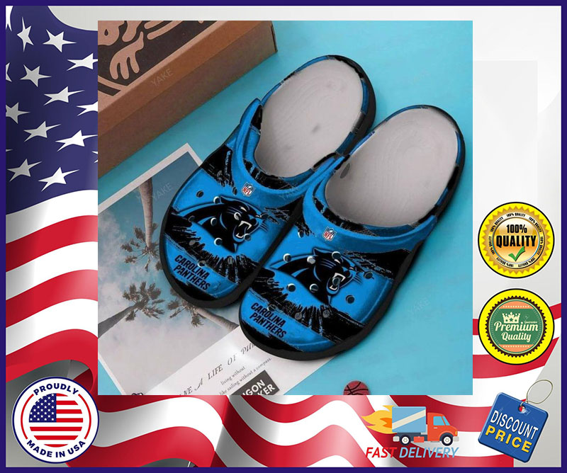Carolina Panthers crocband croc shoes