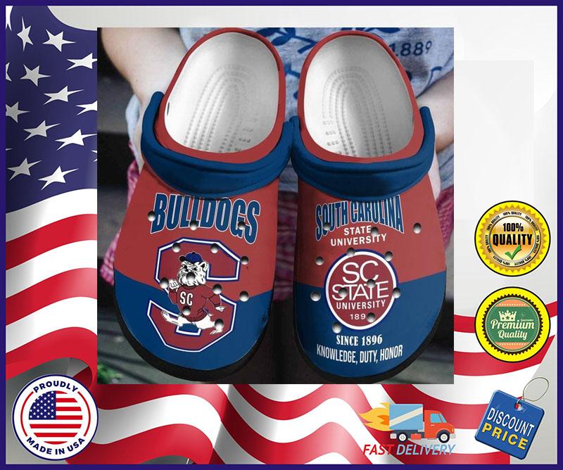 Bulldogs South Carolina state university crocs shoes crocband