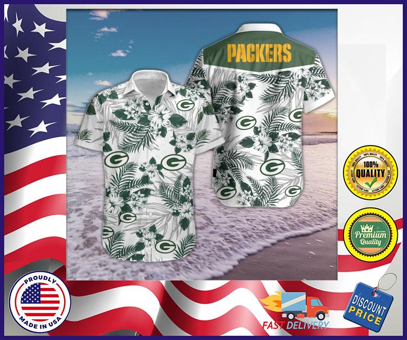 Green Bay Packer hawaiian shirt