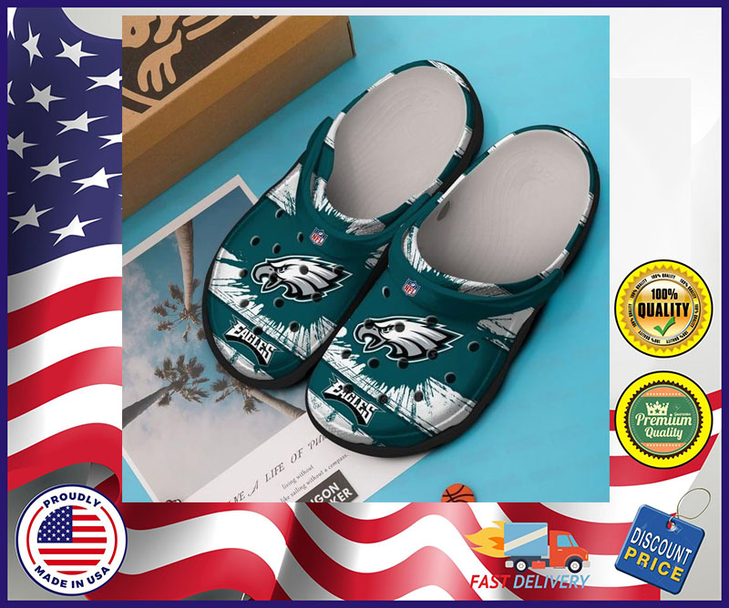 Philadelphia Eagles crocband croc shoes