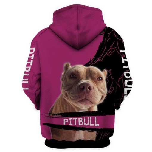A girl and her pitbull personalized custom name 3d hoodie