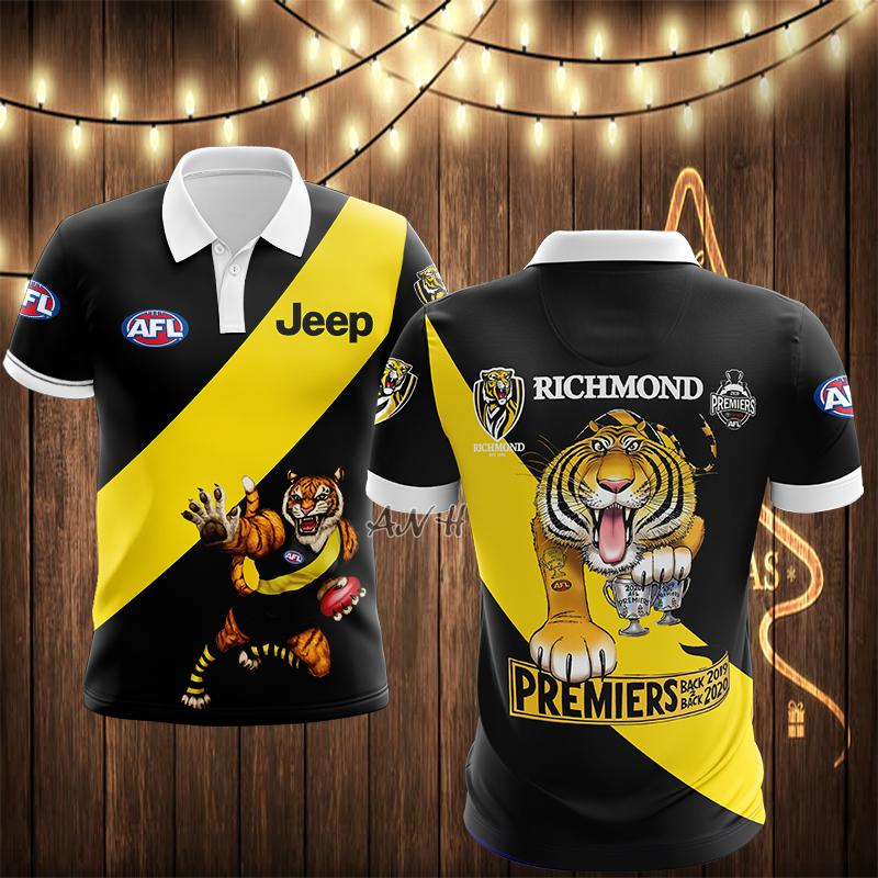 AFL Richmond 3d polo shirt