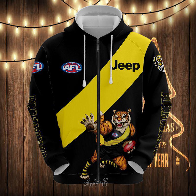 AFL Richmond 3d zip hoodie