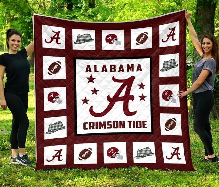 Alabama crimson tide quilt blanket